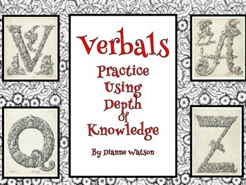 Verbals--Practice Using Depth of Knowledge