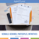 Verbals Practice Workbook: Gerunds, Participles, Infinitives