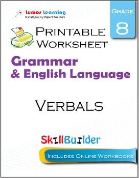 Verbals Printable Worksheet, Grade 8