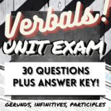 Grammar Test: 30-Question on Verbals (Gerunds, Infinitives, Participles)