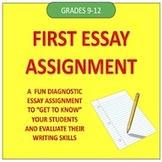 First Essay Assignment