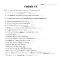 Verbals practice and tests