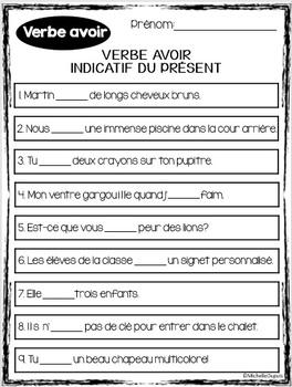Verbe AVOIR - Grammaire - French grammar unit