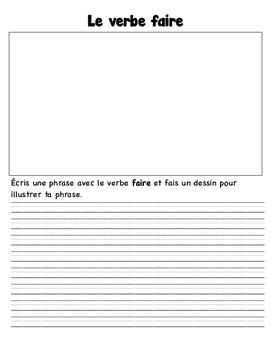 Verbe FAIRE Worksheets