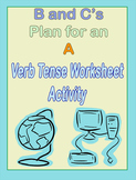 Verb Tense Worksheet ELA Activity