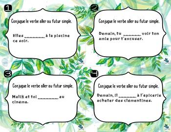 Verbe Aller Futur Simple Cartes A Taches By Madame Soleil Tpt