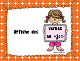 "Verbe au ""je"" - Affiches"