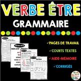 Verbe être - Grammaire - French grammar unit