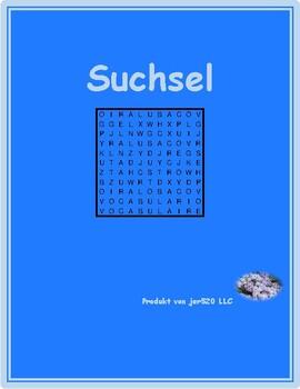 Verben mit Präposition German Wordsearch
