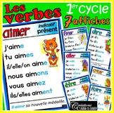 Verbes 1er cycle - 6 affiches à l'indicatif présent - Français