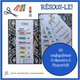 Verbes à l'imparfait - 30 verbes français à découper et co