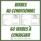 French conditional tense -60 French verbs to conjugate -French writing exercises