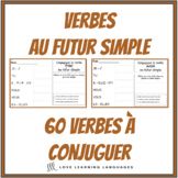 French futur simple - 60 French verbs to conjugate - French writing exercises