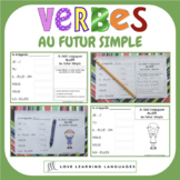 French futur simple - 60 verb conjugation charts - Primary