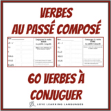 French passé composé - 60 French verbs to conjugate - French writing exercises