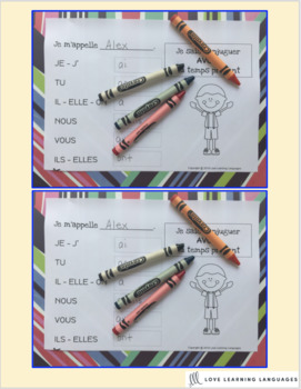 French present tense - 60 verb conjugation charts - Primary French Immersion