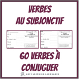 French subjunctive - 60 French verbs to conjugate - French writing exercises