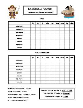 Verbes en -re, verbes du troisième groupe, bataille navale, battleship in French