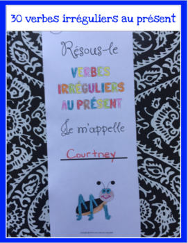 Verbes irréguliers au présent-30 verbes français à découper et coller-PRIMAIRE