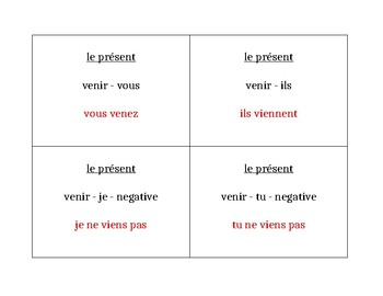 Verbes irréguliers au présent French Question Question Pass activity