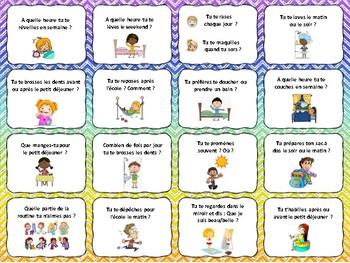 Verbes réfléchis, French reflexive verbs task cards, Quiz quiz trade, speaking