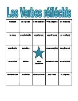 Verbes réfléchis (French Reflexive verbs) Bingo