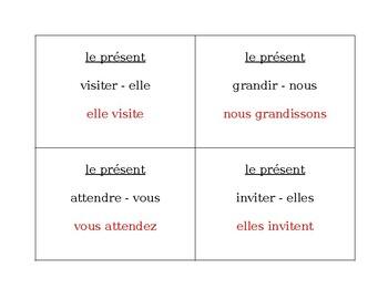 Verbes réguliers au présent French Question Question Pass activity