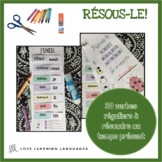 Primary French present tense verbs cut and paste - Verbes