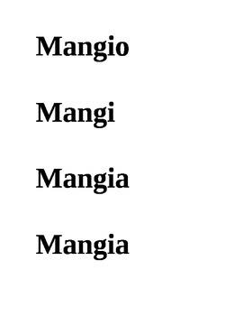 Verbi in Italiano (Italian Verbs)