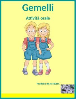 Verbi riflessivi (Italian Reflexive verbs) Gemelli Twins Speaking activity