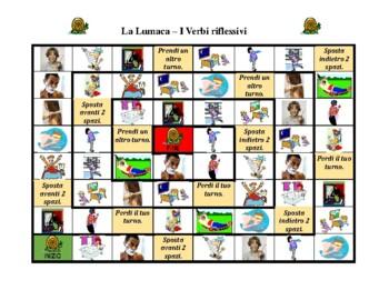 Verbi riflessivi (Italian Reflexive verbs) Lumaca snail game