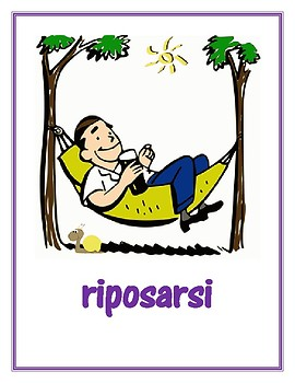 Verbi riflessivi (Italian Reflexive verbs) Posters