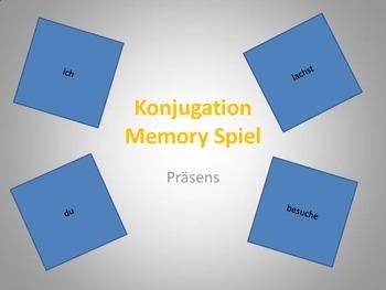 Verbkonjugation - Memoryspiel