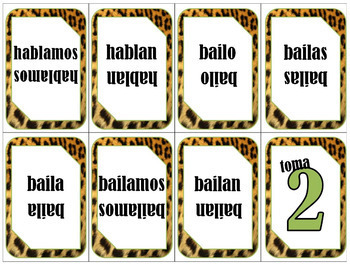 ¡VERBO!- uno card game for Regular Verbs in Spanish (PPT)