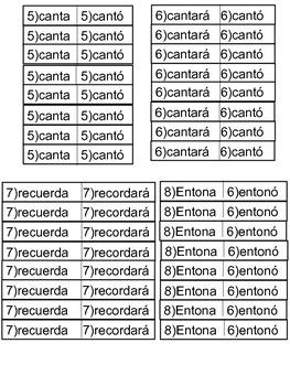Verbos (Presente, Preterito, Futuro) Verbs (Present, Past, Future) Spanish