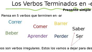 Verbos Regulares terminados en ER Presentation