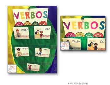 Verbos Vobulario Verbs Word Wall Spanish