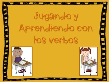 Verbos aprendiendo y jugando (Verbs learning and playing) Spanish only