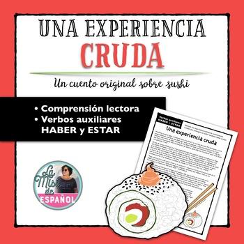 Verbos auxiliares HABER ESTAR Comprensión Lectora Spanish Helping Verbs Passage