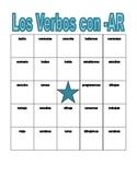 AR Verbs in Spanish Verbos AR Bingo