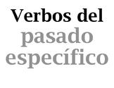 Verbos del pretérito / Spanish verb wall