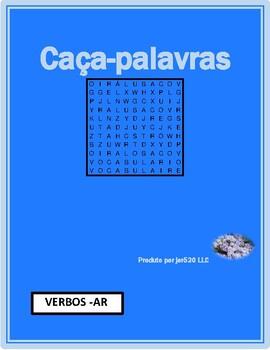 Verbos em AR (AR verbs in Portuguese) Wordsearch 1