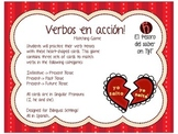 ¡Verbos en acción! - Matching Game with Worksheets - Spani