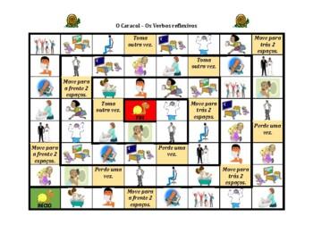 Verbos reflexivos (Portuguese Reflexive verbs) Caracol snail game