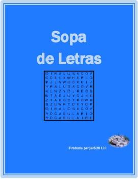 Verbos reflexivos (Spanish Reflexive Verbs) Wordsearch
