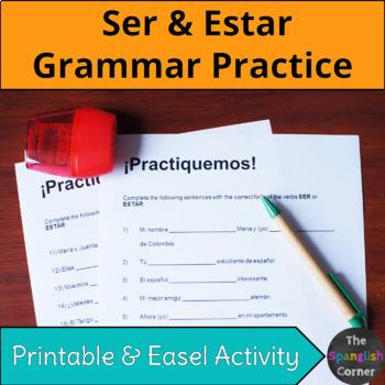 Spanish grammar: Verbos ser y estar