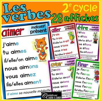 Verbres du 2e cycle - 21 affiches - Français