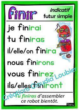 Verbes du 2e cycle - 28 affiches - Français