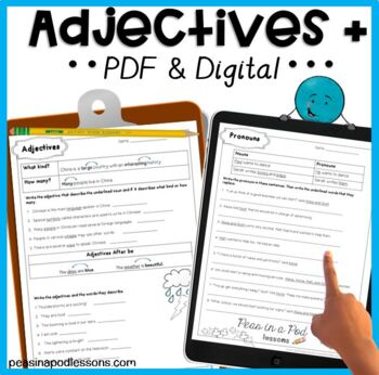 Parts of Speech | Adjectives and Pronouns | Grammar for 3rd, 4th, 5th, & 6th