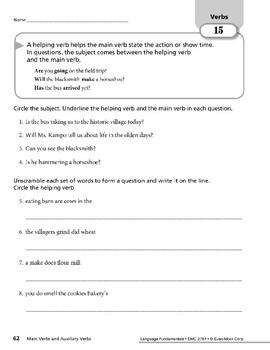 Verbs 06: Main Verbs & Auxiliary Verbs